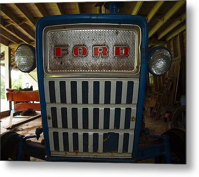 Old Ford Tractor Metal Print
