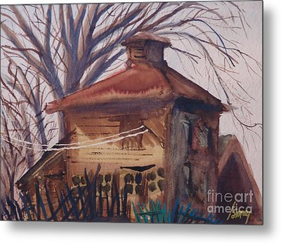 Metal Print featuring the painting Old Garage by Rod Ismay
