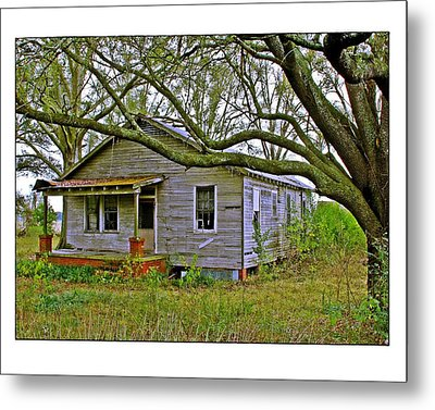 Metal Print featuring the photograph Old Gray House by Judi Bagwell