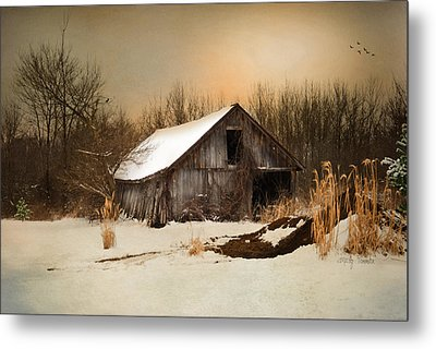 Old Homestead Barn Metal Print by Mary Timman