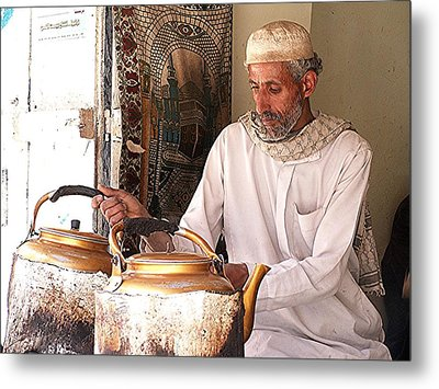 Old Ibb Tea Man Metal Print