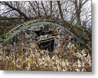 Old Ice House Metal Print by Ms Judi