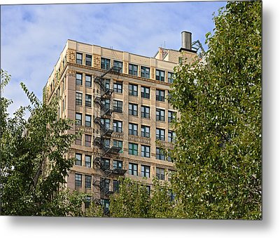 Old Iron Fire Escape Chicago Il Metal Print by Christine Till