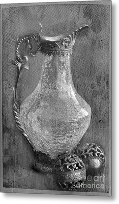 Old Jug Metal Print by Taschja Hattingh