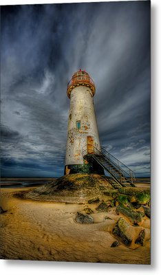 Old Lighthouse Metal Print by Adrian Evans