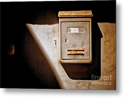 Old Mailbox With Doorbell Metal Print by Silvia Ganora