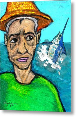 Old Man And The Sea Metal Print by William Depaula
