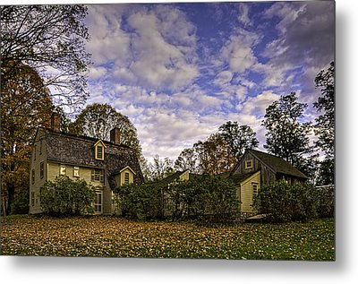 Old Manse In Autumn Glory Metal Print by Jose Vazquez