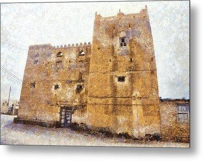 Old Mansion In Mirbat Metal Print