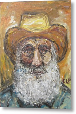Old Miner From Victor Colorado Metal Print