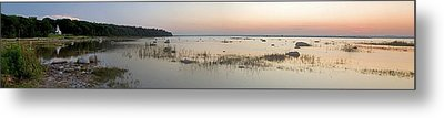 Old Mission Point Lighthouse Panorama Metal Print by Twenty Two North Photography