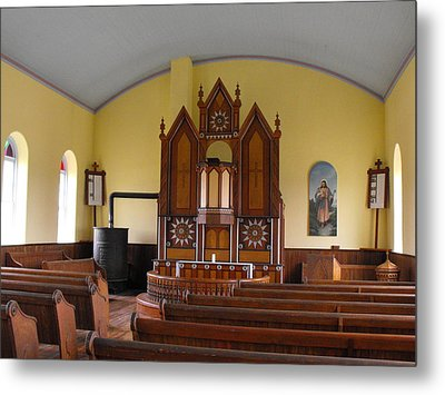Old Norse Church Metal Print by Rebecca Cearley