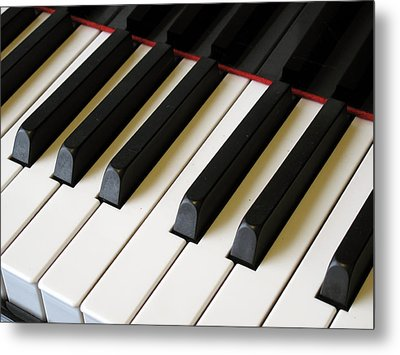 Old Piano Metal Print by Dorin Adrian Berbier