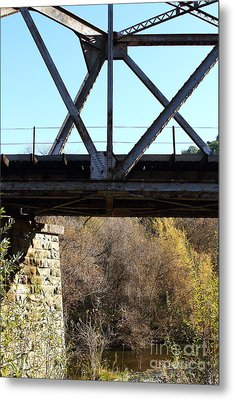 Old Railroad Bridge At Union City Limits Near Historic Niles District In California . 7d10743 Metal Print by Wingsdomain Art and Photography