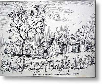 Old Ranch House Metal Print by Bill Joseph  Markowski