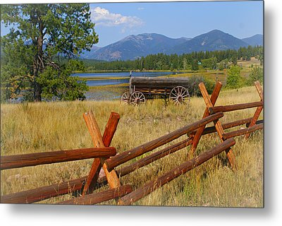 Old Ranch Wagon Metal Print by Marty Koch