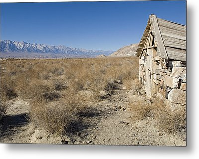 Old Rock Cabin At Dolomite Metal Print by Rich Reid