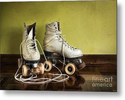 Old Roller-skates Metal Print by Carlos Caetano
