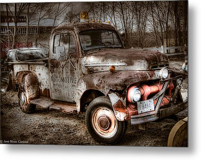 Old Rusty Metal Print by Jerri Moon Cantone