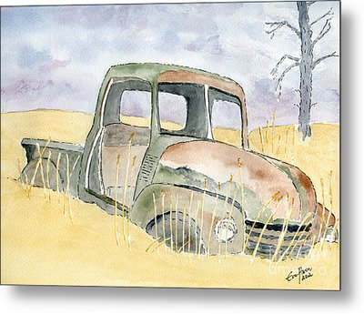 Old Rusty Truck Metal Print by Eva Ason