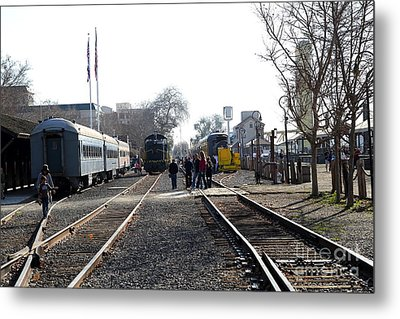 Old Sacramento Train Station Depot . 7d11635 Metal Print by Wingsdomain Art and Photography