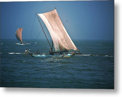 Old Sail Boat Metal Print by Dumindu Shanaka