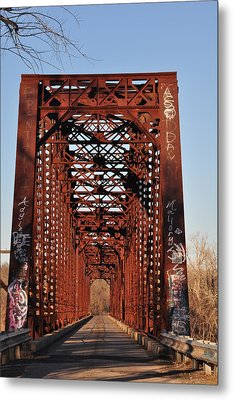 Old Sante Fe Bridge Metal Print