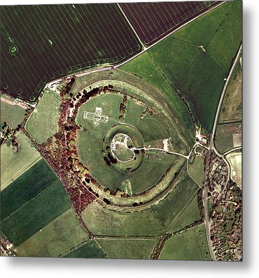 Old Sarum Metal Print by Getmapping Plc