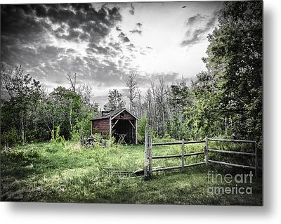 Old Shed Metal Print by Lori Frostad
