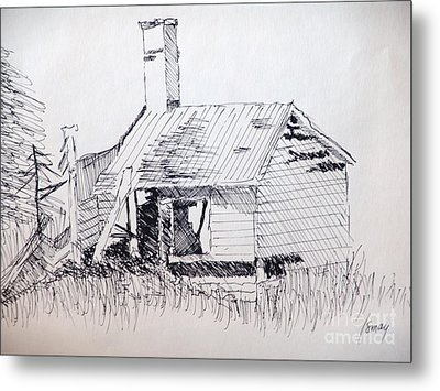 Old Shed Metal Print by Rod Ismay