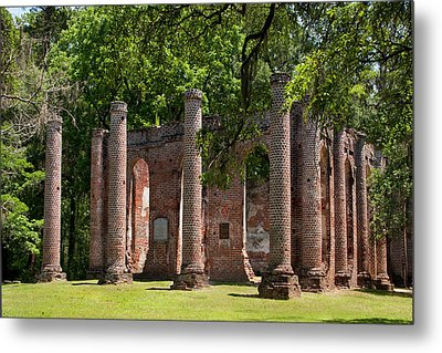 Old Sheldon Church Metal Print by Sandra Anderson
