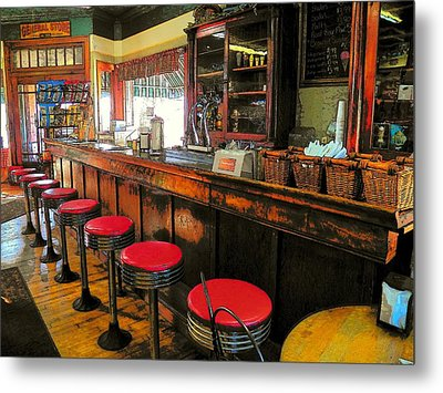 Old Soda Shoppe Metal Print by Joyce Kimble Smith