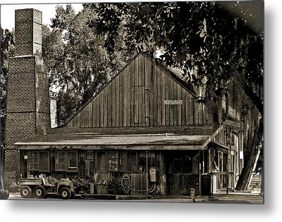 Old Spanish Sugar Mill Old Photo Metal Print by DigiArt Diaries by Vicky B Fuller