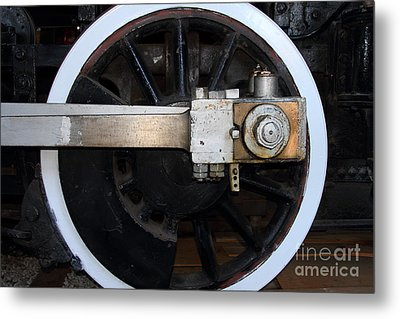 Old Steam Locomotive Engine 5 . The Little Buttercup . Train Wheel . 7d12916 Metal Print by Wingsdomain Art and Photography