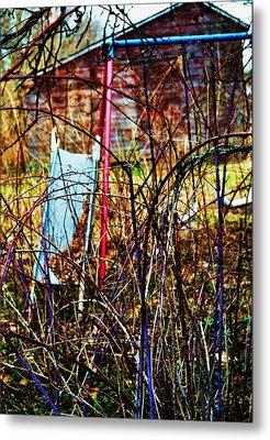 Old Swing Set Metal Print by Todd Sherlock