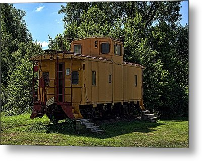 Old Time Caboose Metal Print by Tim McCullough