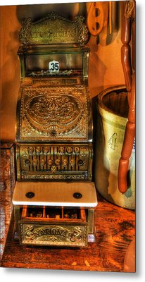 Old Time Cash Register - General Store - Vintage - Nostalgia  Metal Print by Lee Dos Santos