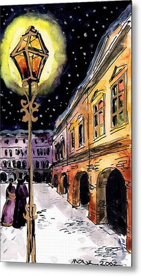 Old Time Evening Metal Print by Mona Edulesco