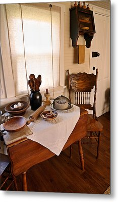 Old Time Kitchen Table Metal Print by Carmen Del Valle