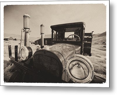 Old Time Picture Of A Truck Metal Print by George Oze