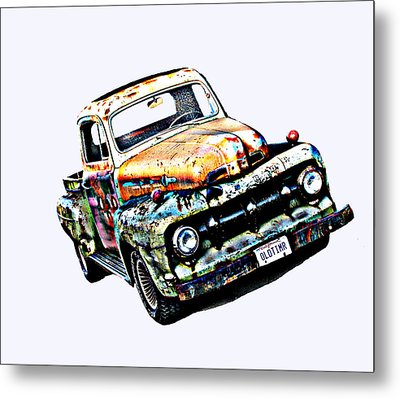 Old Timer 1952 Ford Pickup Truck Metal Print