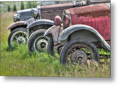 Old Timers Metal Print by Naman Imagery