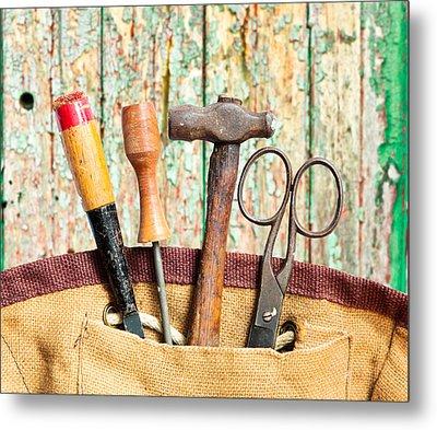 Old Tools Metal Print by Tom Gowanlock