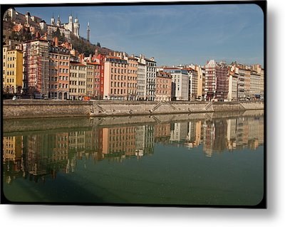 Old Town Of Lyon Metal Print by Niall Sargent