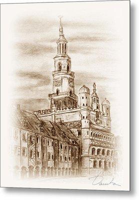 old town Poznan Metal Print by Danuta Bennett