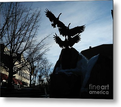 Old Town Silhouette  Metal Print