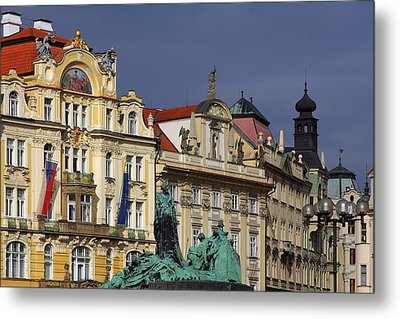 Old Town Square In Prague Metal Print by Christine Till