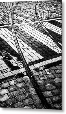 Old Tracks Made New Metal Print by Hakon Soreide