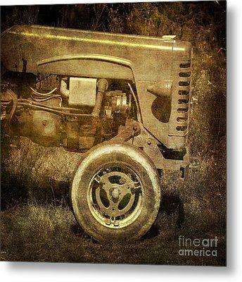 Old Tractor Metal Print by Bernard Jaubert
