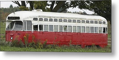 Metal Print featuring the photograph Old Tram-street Car by Nick Mares